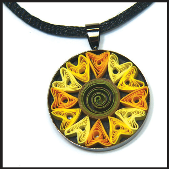 Sunflower Necklace Pendant